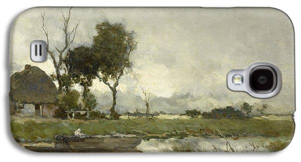 Autumn Landscape, Johan Hendrik Weissenbruch Galaxy S4 Case by Litz Collection