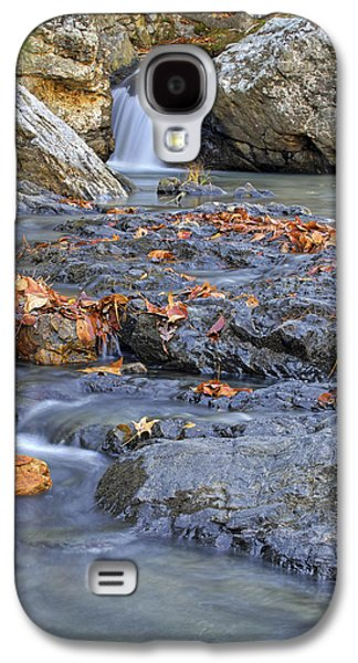 Autumn Leaves At Little Missouri Falls - Arkansas - Waterfall Galaxy S4 Case