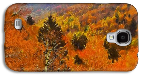 Autumn On Fire In The Mountains Galaxy S4 Case