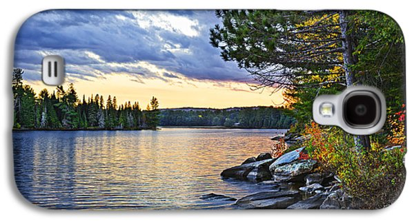 Autumn Sunset At Lake Galaxy S4 Case