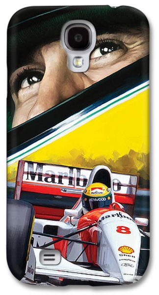 Ayrton Senna Artwork Galaxy S4 Case by Sheraz A