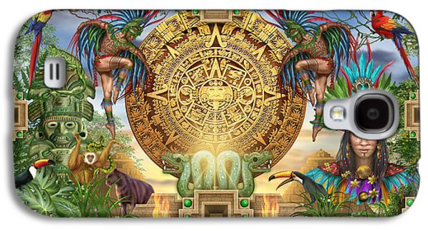 Aztec Mayhem Montage Galaxy S4 Case by Ciro Marchetti