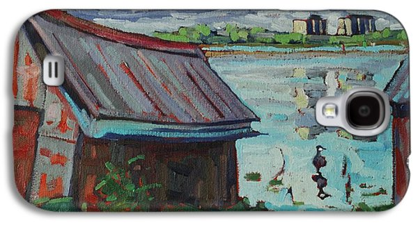 B And B - Barriefield Boathouse Galaxy S4 Case by Phil Chadwick