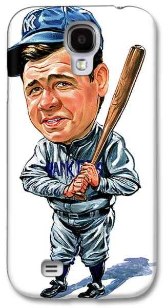 Babe Ruth Galaxy S4 Case by Art