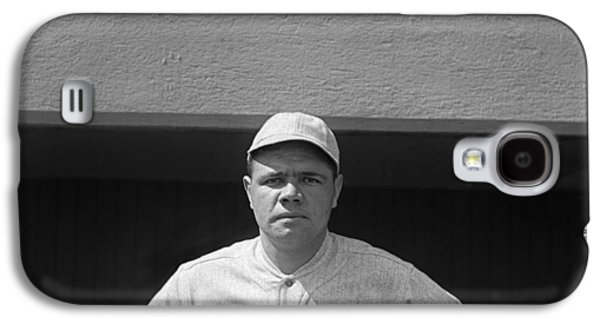 Babe Ruth In Red Sox Uniform Galaxy S4 Case by Underwood Archives