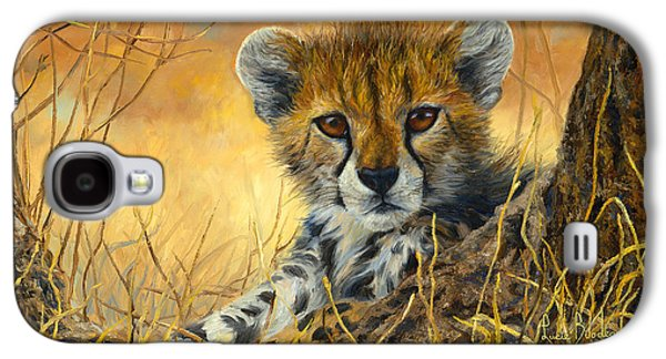 Baby Cheetah  Galaxy S4 Case by Lucie Bilodeau