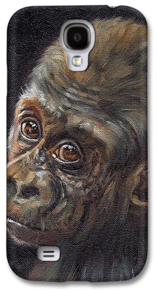 Gorilla Galaxy S4 Case - Baby Gorilla by David Stribbling