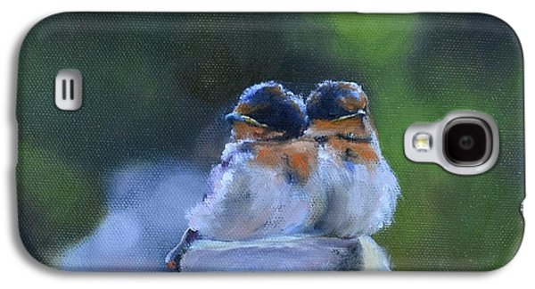 Baby Swallows On Post Galaxy S4 Case