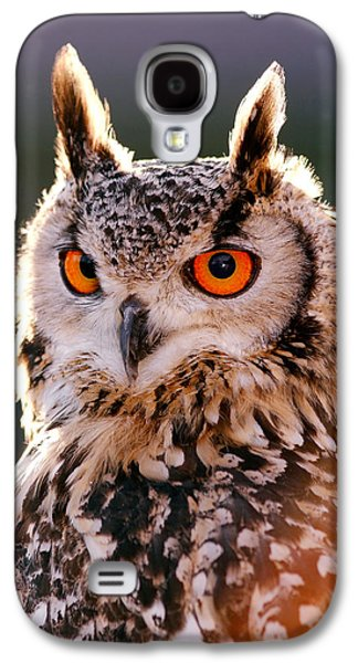 Backlit Eagle Owl Galaxy S4 Case