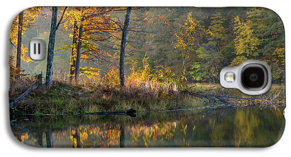 Backlit Trees On Lake Ogle In Autumn Galaxy S4 Case by Chuck Haney