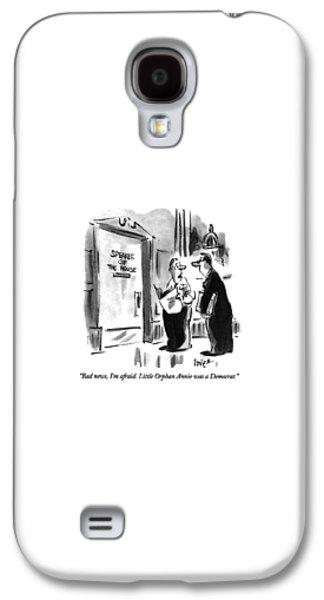 Newts Galaxy S4 Case - Bad News, I'm Afraid.  Little Orphan Annie by Lee Lorenz