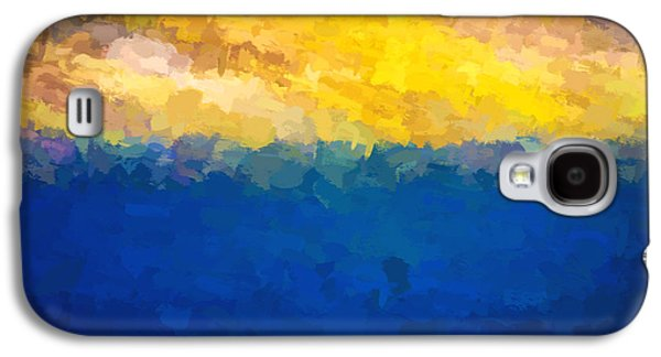 Baja Sunrise Abstract Digital Painting Galaxy S4 Case by Rich Franco