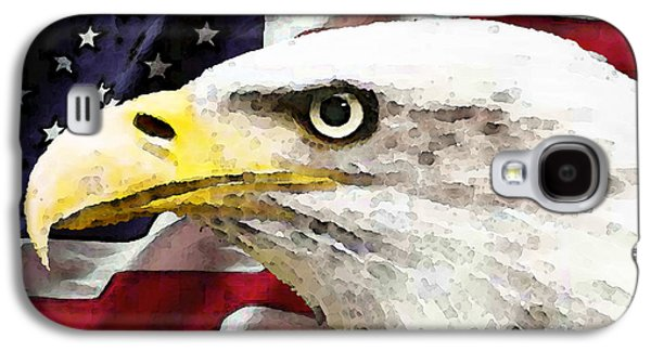 Bald Eagle Art - Old Glory - American Flag Galaxy S4 Case