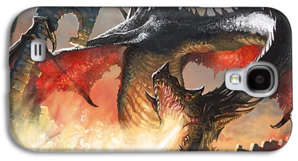 Fantasy Galaxy S4 Case - Balerion The Black by Ryan Barger