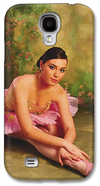 Ballerina In The Rose Garden Galaxy S4 Case