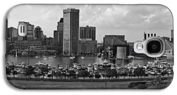 Baltimore Harbor Skyline Panorama Bw Galaxy S4 Case