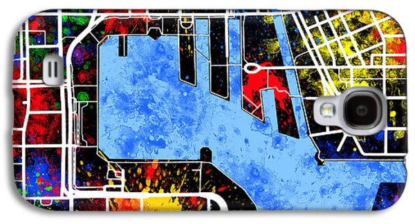 Baltimore Inner Harbor Map Galaxy S4 Case