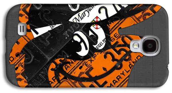 Baltimore Orioles Vintage Baseball Logo License Plate Art Galaxy S4 Case