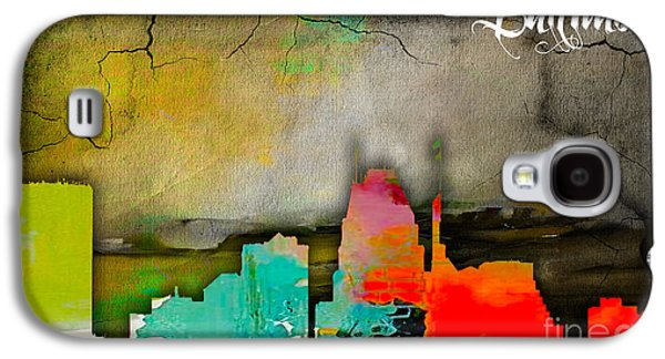 Baltimore Skyline Watercolor Galaxy S4 Case by Marvin Blaine