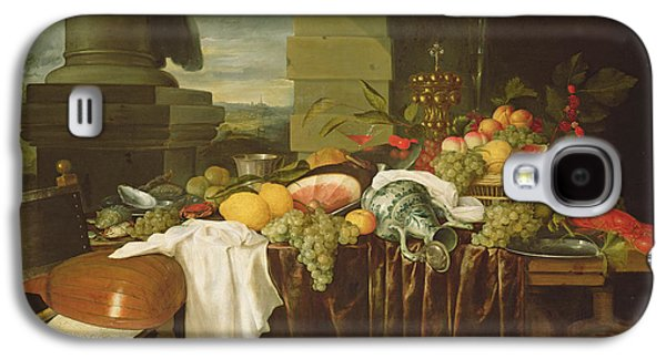 Banquet Still Life Oil On Canvas Galaxy S4 Case by Andries Benedetti