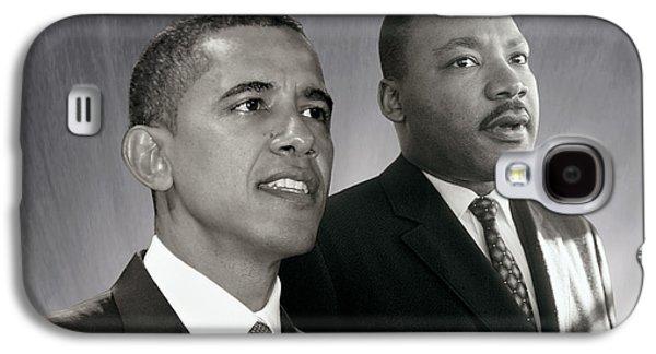 Barack Obama  M L King  Galaxy S4 Case by Martin Konopacki Restoration