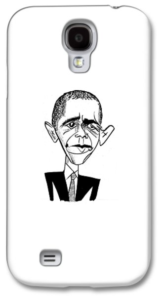 Barack Obama Suit & Tie Galaxy S4 Case by Tom Bachtell