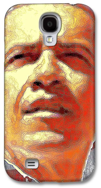 Barack Obama American President - Red White Blue Galaxy S4 Case by Art America Online Gallery