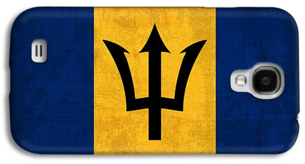 Barbados Flag Vintage Distressed Finish Galaxy S4 Case