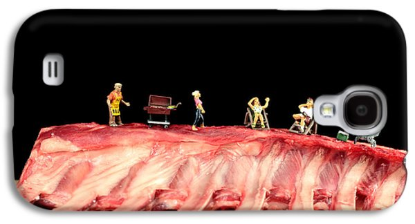 Barbecue On Lamb Ribs Galaxy S4 Case by Paul Ge