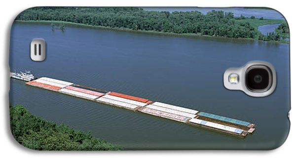 Marquette Galaxy S4 Case - Barge In A River, Mississippi River by Panoramic Images