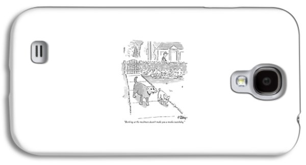 Barking At The Mailman Doesn't Make You A Media Galaxy S4 Case by Peter Steiner