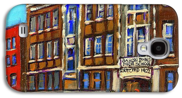 Baron Byng High School 4251 St. Urbain Street Plateau Montreal City  Scene Carole Spandau Montreal A Galaxy S4 Case by Carole Spandau