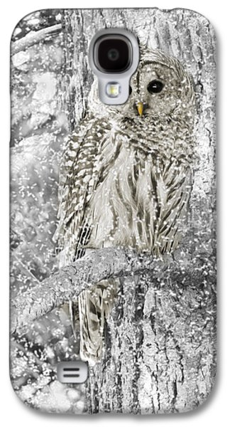 Barred Owl Snowy Day In The Forest Galaxy S4 Case