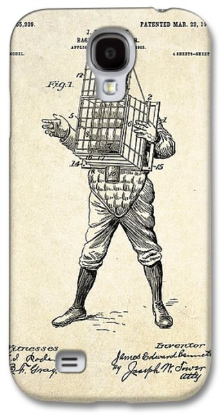 1904 Base Ball Catcher Patent Art Galaxy S4 Case