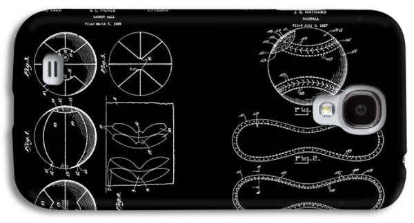 Baseball And Basketball Patent Galaxy S4 Case by Dan Sproul