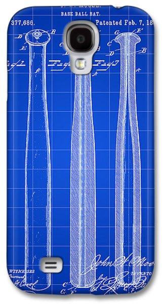 Baseball Bat Patent 1888 - Blue Galaxy S4 Case