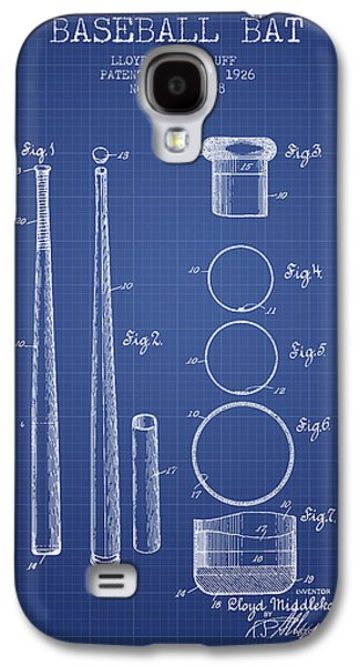 Baseball Bats Galaxy S4 Case - Baseball Bat Patent From 1926 - Blueprint by Aged Pixel