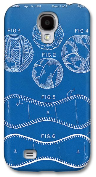Baseball Construction Patent - Blueprint Galaxy S4 Case