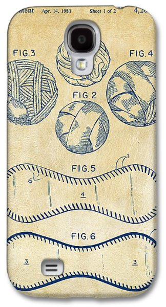Baseball Construction Patent - Vintage Galaxy S4 Case