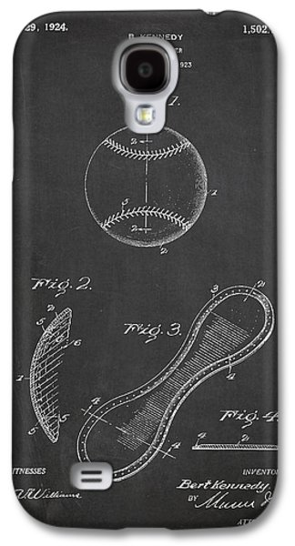 Baseball Bats Galaxy S4 Case - Baseball Cover Patent Drawing From 1923 by Aged Pixel