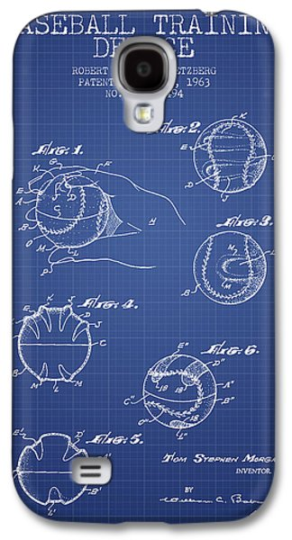 Baseball Bats Galaxy S4 Case - Baseball Cover Patent From 1963- Blueprint by Aged Pixel