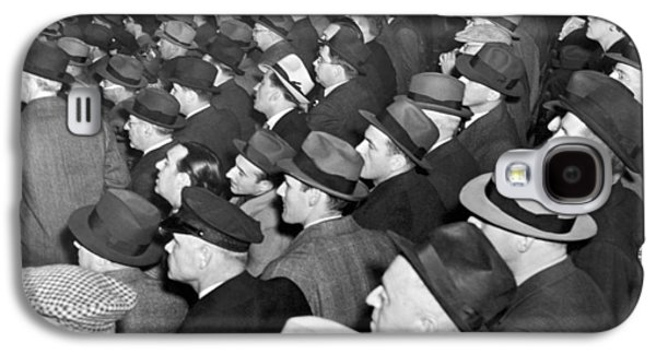 Baseball Fans At Yankee Stadium For The Third Game Of The World Galaxy S4 Case by Underwood Archives