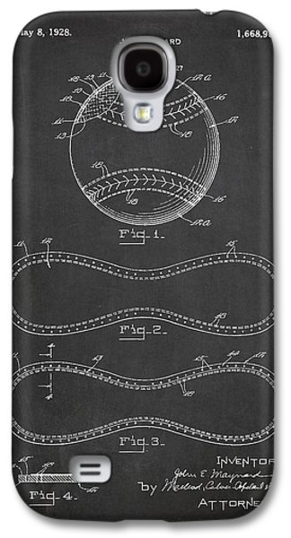 Baseball Bats Galaxy S4 Case - Baseball Patent Drawing From 1927 by Aged Pixel