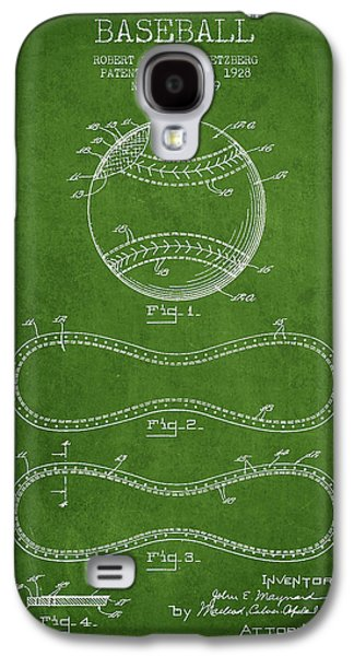 Softball Galaxy S4 Case - Baseball Patent Drawing From 1928 by Aged Pixel