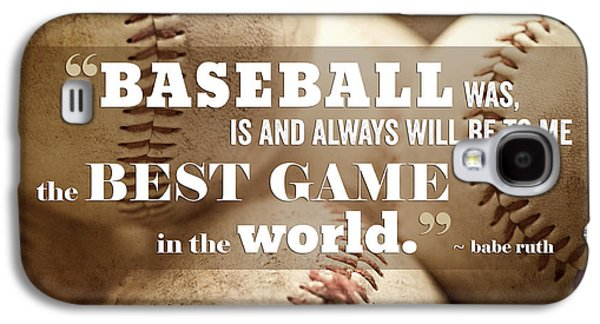 Baseball Print With Babe Ruth Quotation Galaxy S4 Case