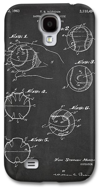 Baseball Bats Galaxy S4 Case - Baseball Training Device Patent Drawing From 1961 by Aged Pixel