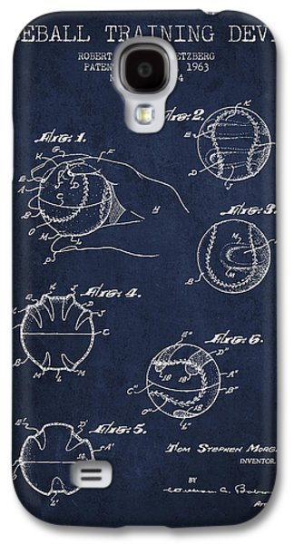 Baseball Bats Galaxy S4 Case - Baseball Training Device Patent Drawing From 1963 by Aged Pixel