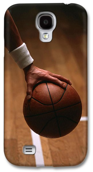 Basketball Ball In Male Hands Galaxy S4 Case by Lanjee Chee