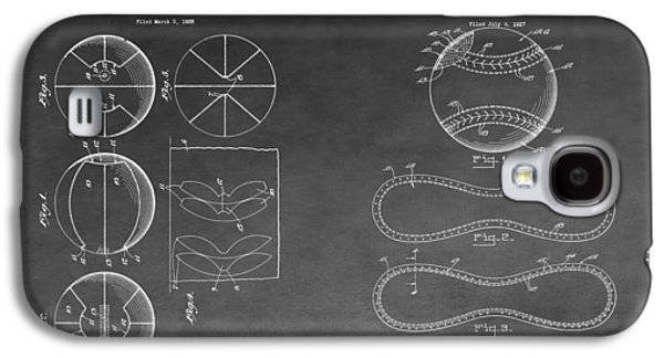 Basketball Baseball Invention Drawing Galaxy S4 Case by Dan Sproul
