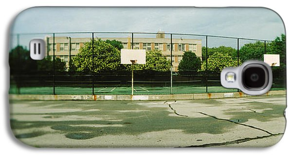 Basketball Court In A Public Park Galaxy S4 Case by Panoramic Images